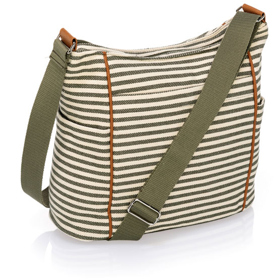 Casual Carry-All - Olive Twill Stripe