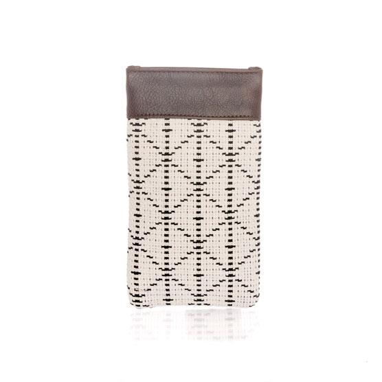 Pinch Top Eyeglass Case - Moroccan Tile Weave