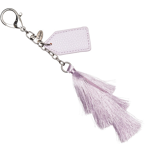 Finishing Touch Bag Charm - Lavender Tassel