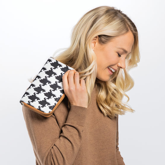 All About the Benjamins - Classic Houndstooth Pebble