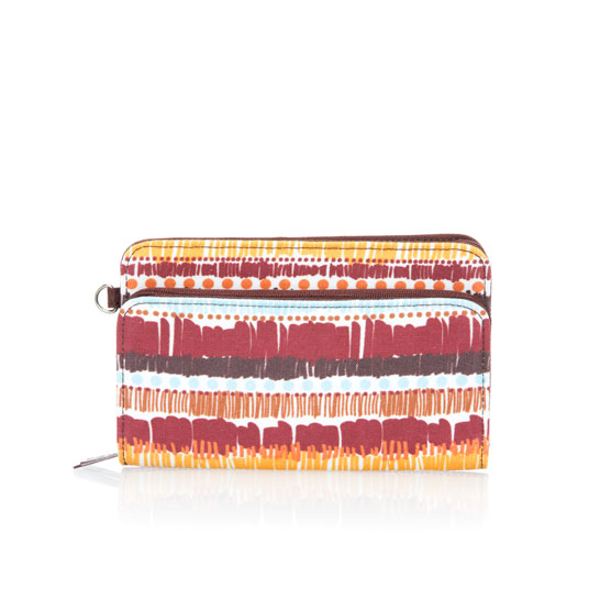 Perfect Cents Wallet - Tapestry Stripe