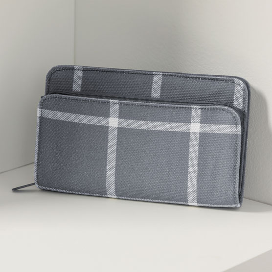 Perfect Cents Wallet - Windowpane Plaid
