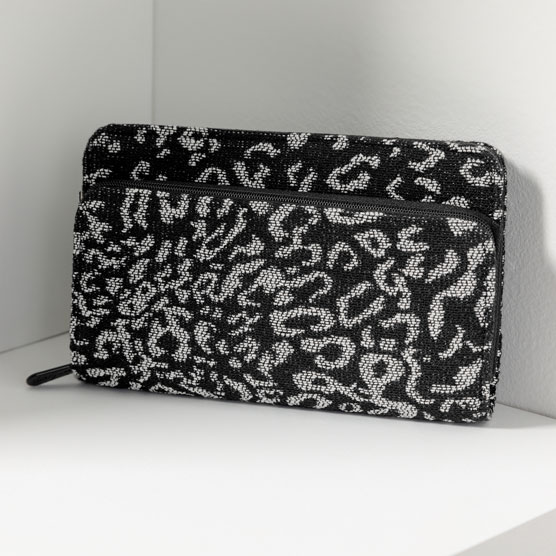 Perfect Cents Wallet - Luxe Leopard Weave