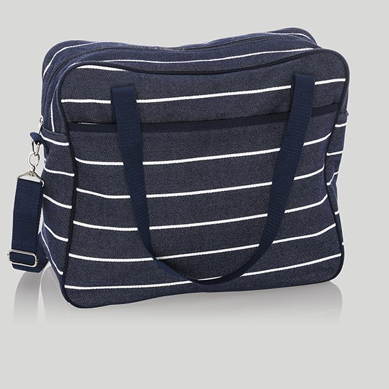 Away For The Weekender - Navy Wide Stripe