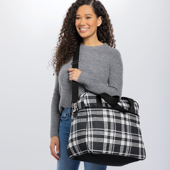 Away For The Weekender - Houndstooth Plaid