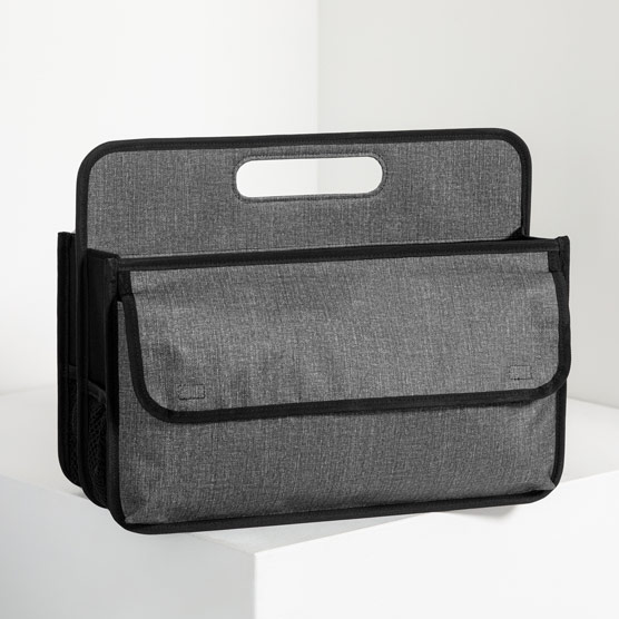 Deluxe Double Duty Caddy - Charcoal Crosshatch