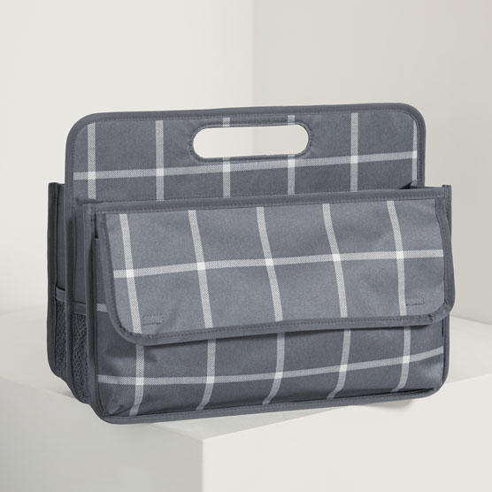 Deluxe Double Duty Caddy - Windowpane Plaid