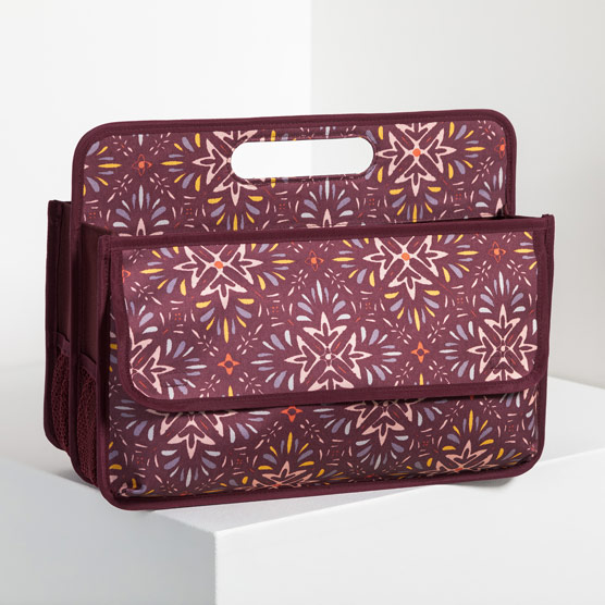 Deluxe Double Duty Caddy - Fall Hues Geo