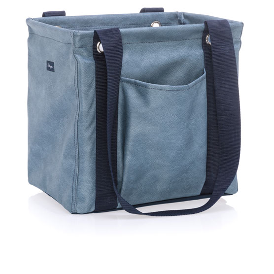 Small Utility Tote - Denim Distressed