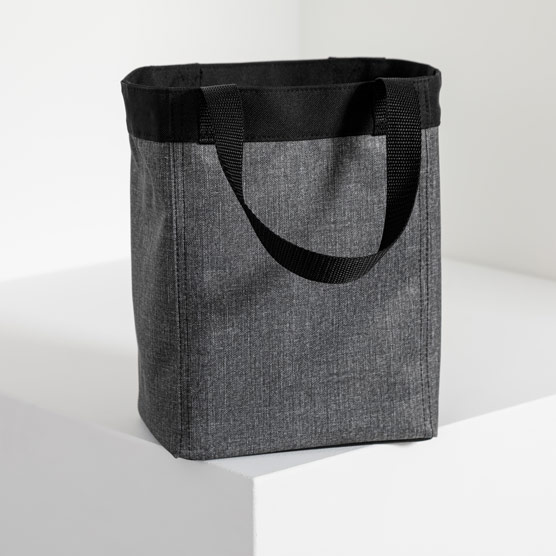 Small Essential Storage Tote - Charcoal Crosshatch