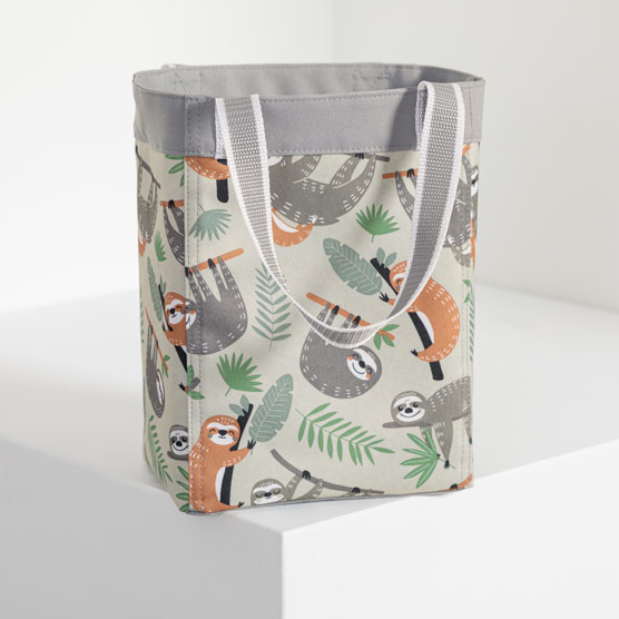 Small Essential Storage Tote - Sloth Hangout