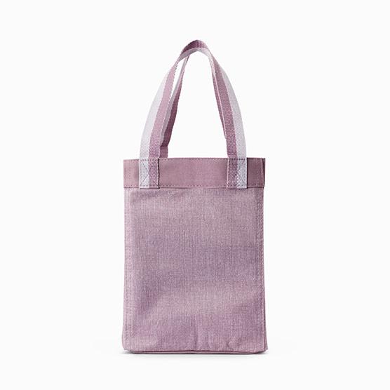Small Essential Storage Tote - Purple Crosshatch