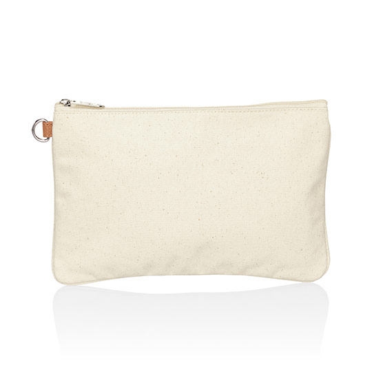 Statement Canvas Zip-Top Pouch - Natural