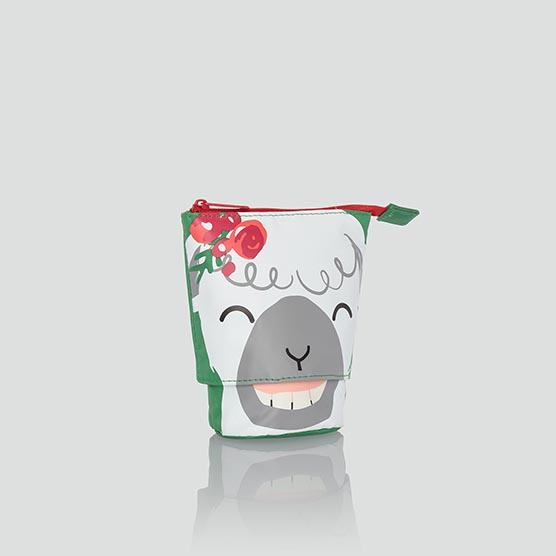 Hide & Peek Pouch - Holiday Llama
