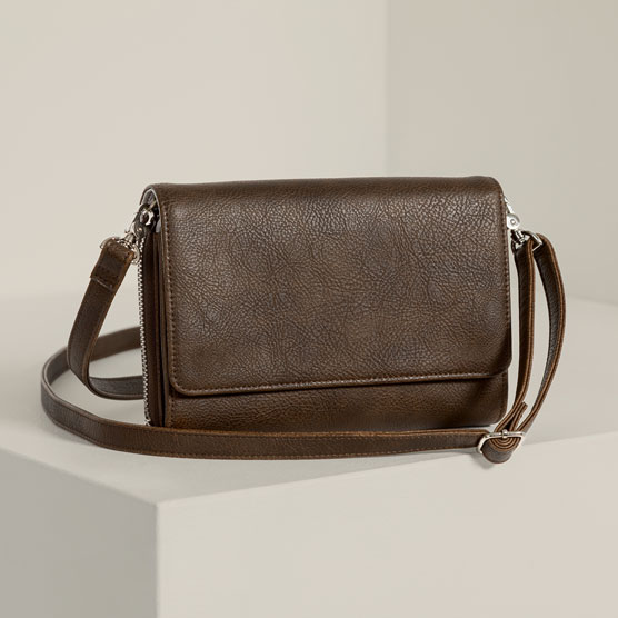 Inspired Crossbody Ltd. - Chestnut Distressed Pebble
