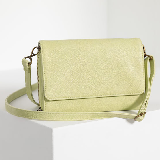 Inspired Crossbody Ltd. - Lemongrass Distressed Pebble