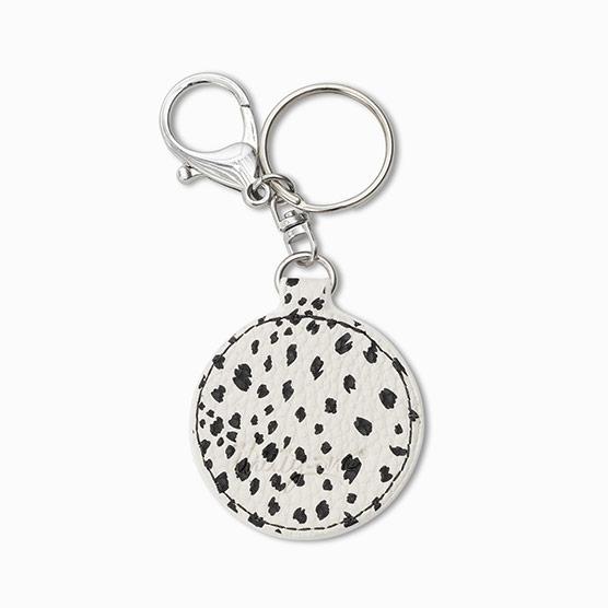 Photo Key Fob - Dainty Speckles Pebble Round