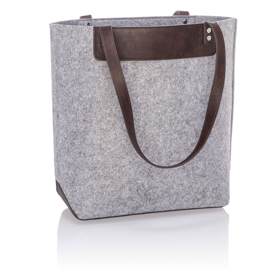 Felt Shopper Tote - Brushed Whisper Grey