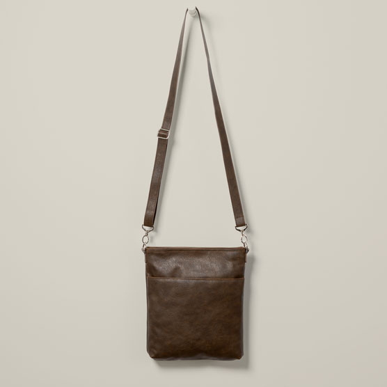 Organizing Shoulder Bag Ltd. - Chestnut Distressed Pebble