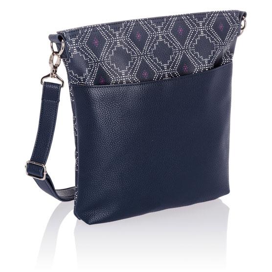 Organizing Shoulder Bag Ltd. - Navy Dotted Geo Pebble