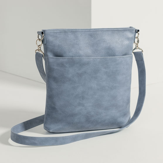 Organizing Shoulder Bag Ltd. - Denim Distressed Pebble