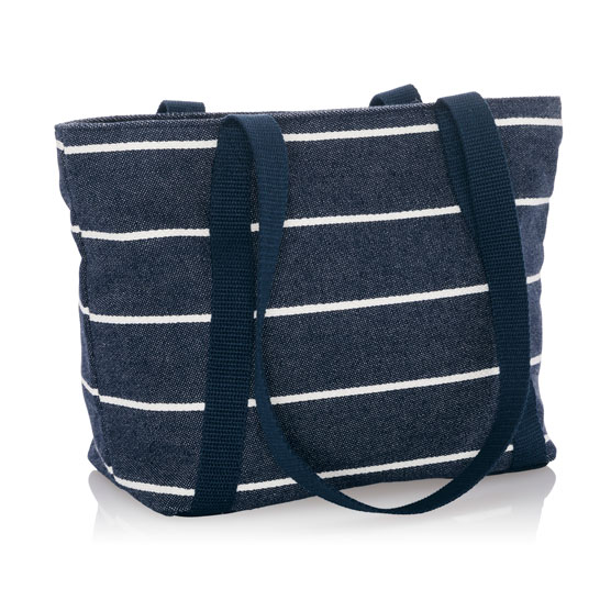 Classic Day Bag - Navy Wide Stripe