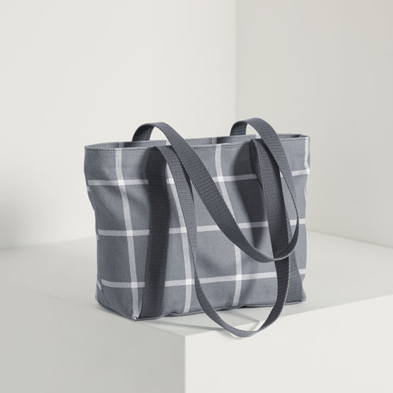Classic Day Bag - Windowpane Plaid