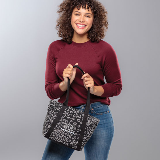 Classic Day Bag - Luxe Leopard Weave
