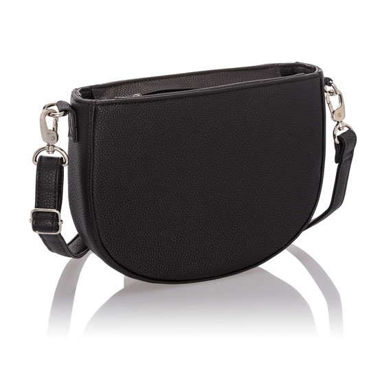 Half Moon Crossbody - Black Beauty Pebble