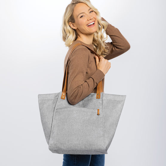 Classic Style Tote - Textured Grey