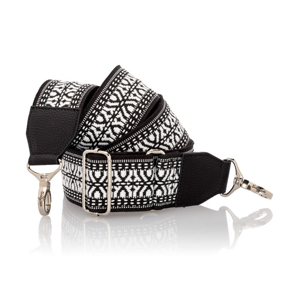 Wide Crossbody Strap - Black Multi
