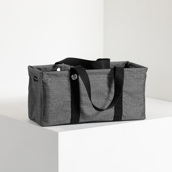 Tiny Utility Tote - Charcoal Crosshatch