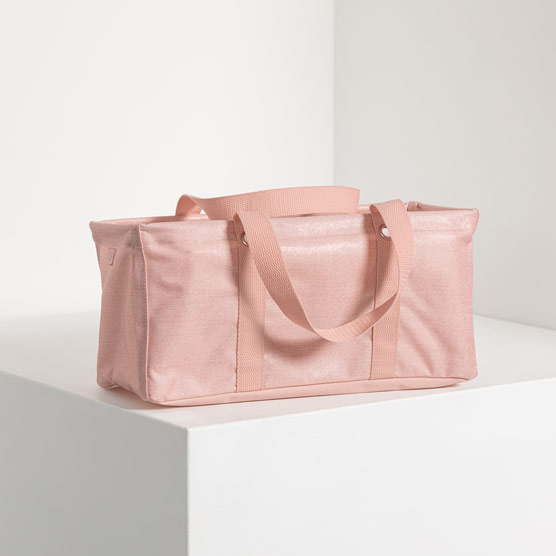 Tiny Utility Tote - Rose Blush Metallic
