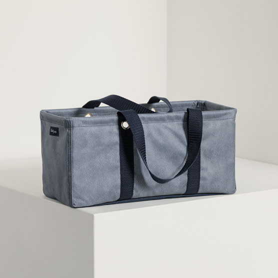 Tiny Utility Tote - Denim Distressed