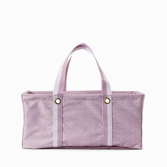 Tiny Utility Tote - Purple Crosshatch