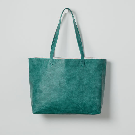 Modern Tote - Jade Distressed Pebble
