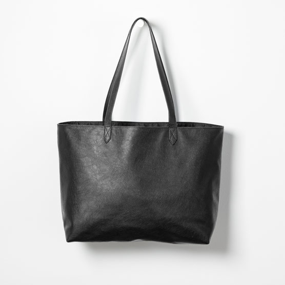 Modern Tote - Black Distressed Pebble
