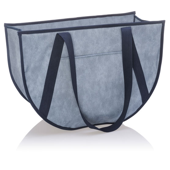 Round Utility Tote - Denim Distressed