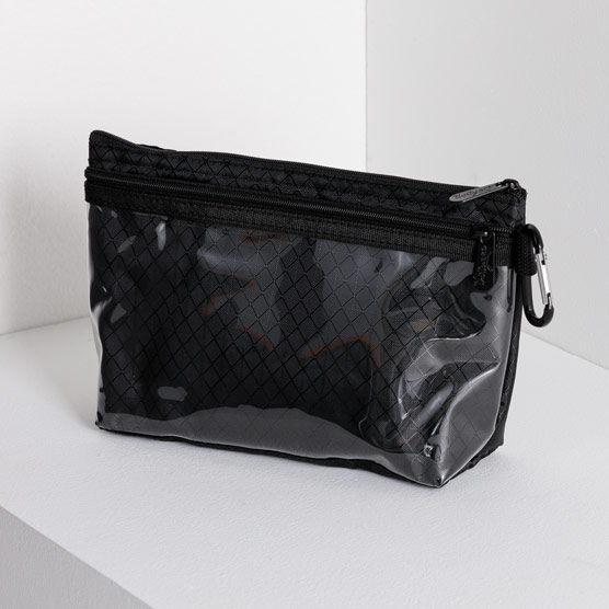 Clear Clip Pouch - Black