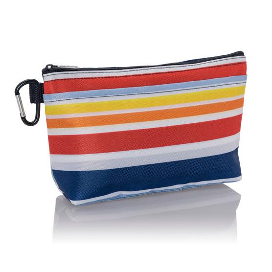 Clear Clip Pouch - Vista Stripe
