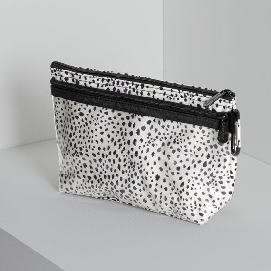 Clear Clip Pouch - Dainty Speckles