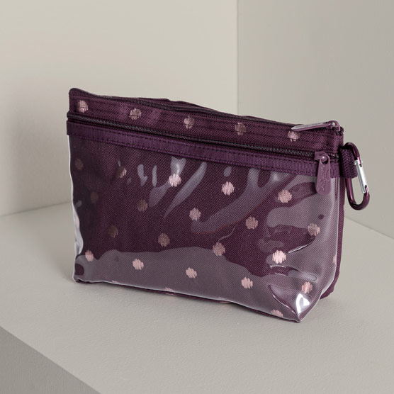 Clear Clip Pouch - Twinkling Plum