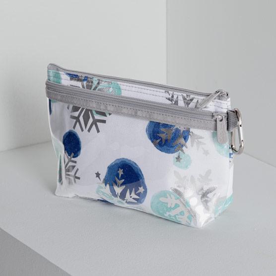 Clear Clip Pouch - Snowflake Sparkle
