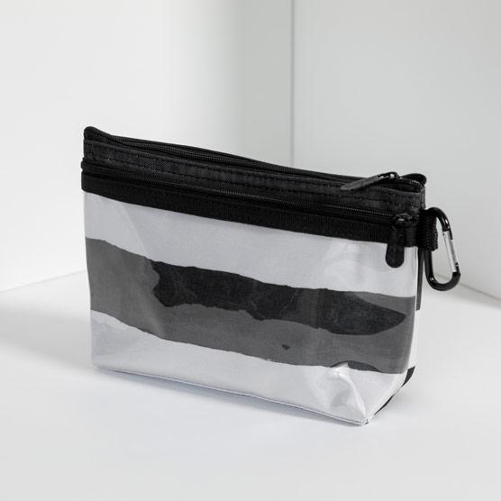 Clear Clip Pouch - Watercolor Stripe