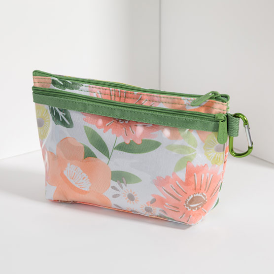 Clear Clip Pouch - Morning Floral