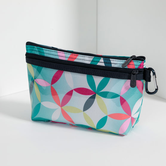 Clear Clip Pouch - Kaleidoscope Dreams