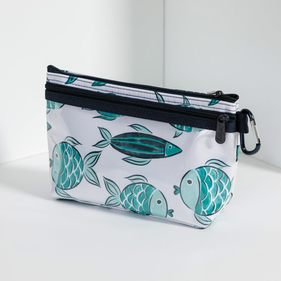 Clear Clip Pouch - Finny Friends