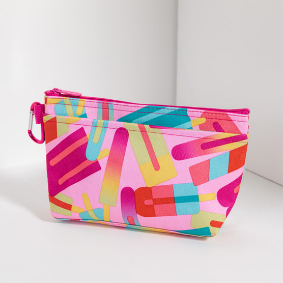 Clear Clip Pouch - Popsicle Party