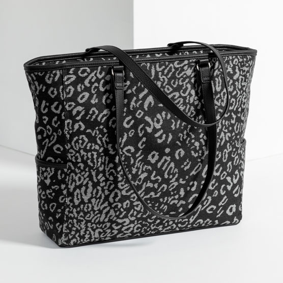 Cindy Tote - Luxe Leopard Weave