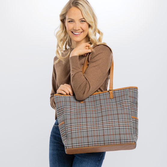 Cindy Tote - Plaid About You Weave